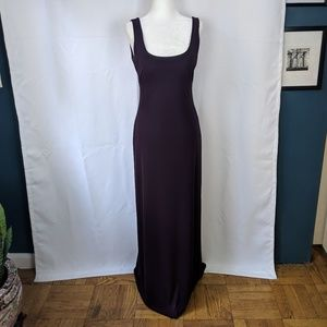 Laundry by Shelli Segal Scoop Neck Open Back Gown